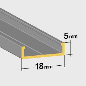 Guida inferiore 5mm