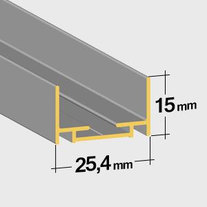 Guide inférieur 15mm